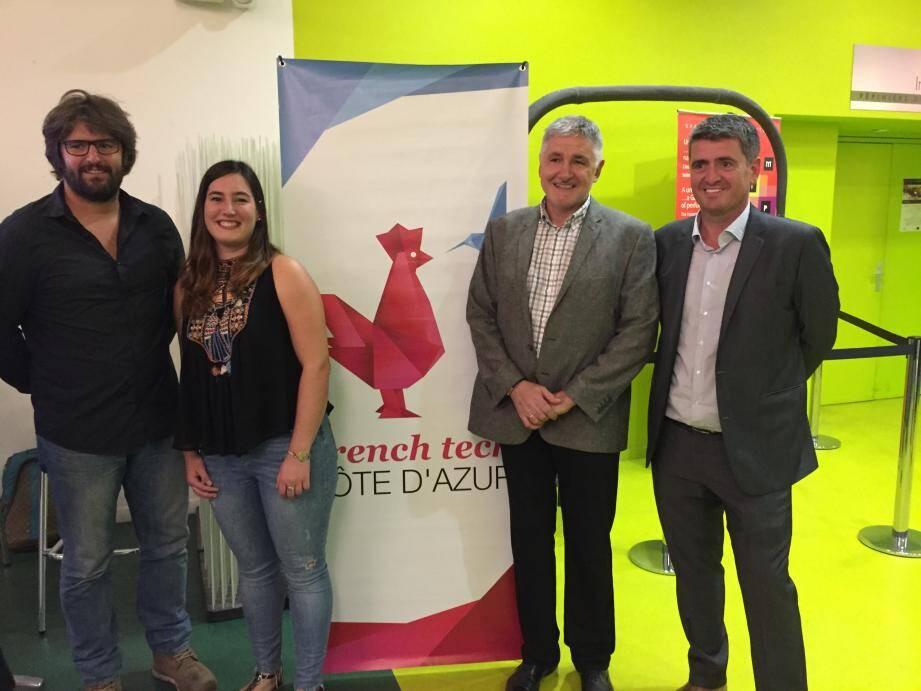 De gauche à droite. Dimitri Schreiber, BET Ogeo ; Marie-Delphine Sanchis, SMS Factor ; Michel Gschwind, Areco ; Thierry Souvay, Delamaison-Röllofrïsk.