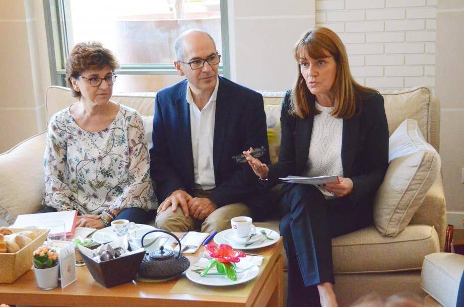 Autour du chef des cuisines du Palais princier, Christian Garcia, parrain du salon, Béatrice Novaretti et Françoise Gamerdinger, ont concocté ce rendez-vous inédit.