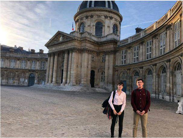 Le temps d'une journée, Chiara et Matthieu ont été les hôtes de l'Académie des Sciences.(DR)
