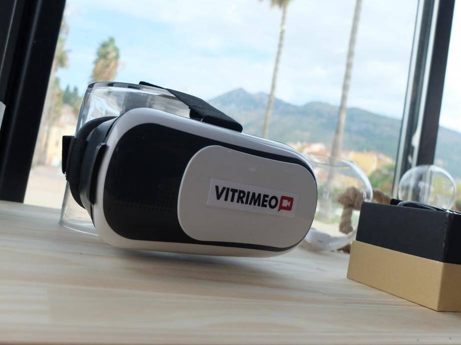 Les casques de réalité virtuelle de Vitrimeo.