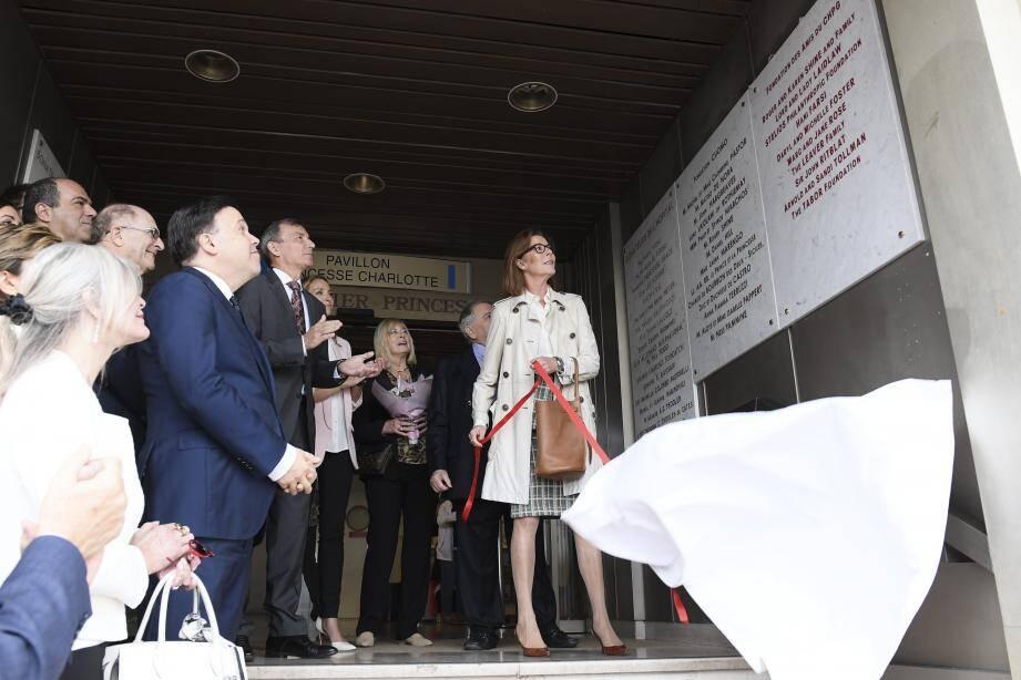 La princesse de Hanovre a assisté au dévoilement d'une plaque en l'honneur de la Fondation des Amis du CHPG, qu'elle préside.