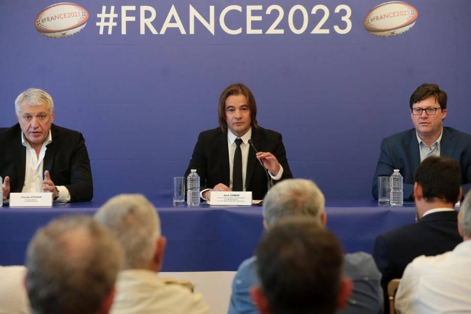 Claude Atcher, José Cobos et Frédéric Gil, déjà dans les préparatifs de la compétition internationale avec la définition d'une convention entre le GIP #France2023 et la Ville.