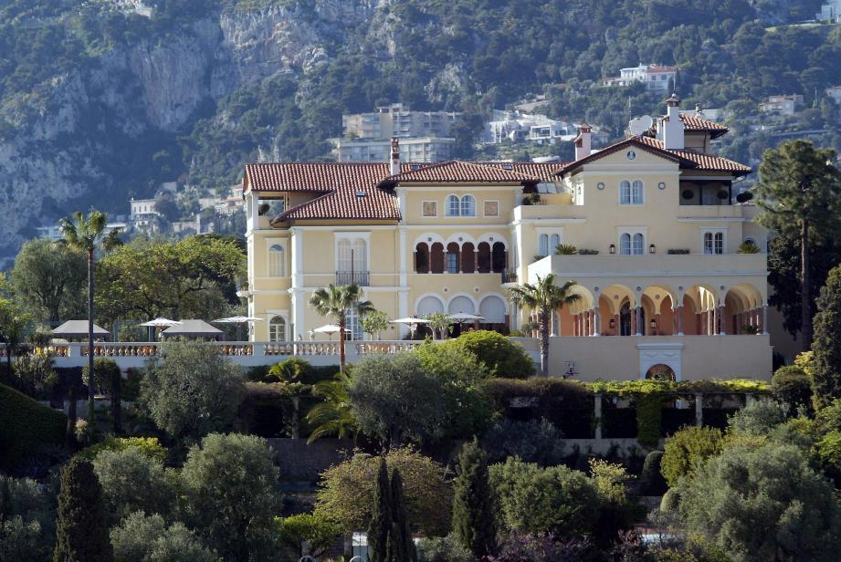 La villa Maryland à Saint-Jean-Cap-Ferrat. Une propriété de 5 000 m2, dont la valeur pourrait atteindre plus de 300 millions d'euros.
