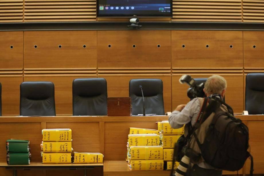 La salle d'audience du procès Pastor.