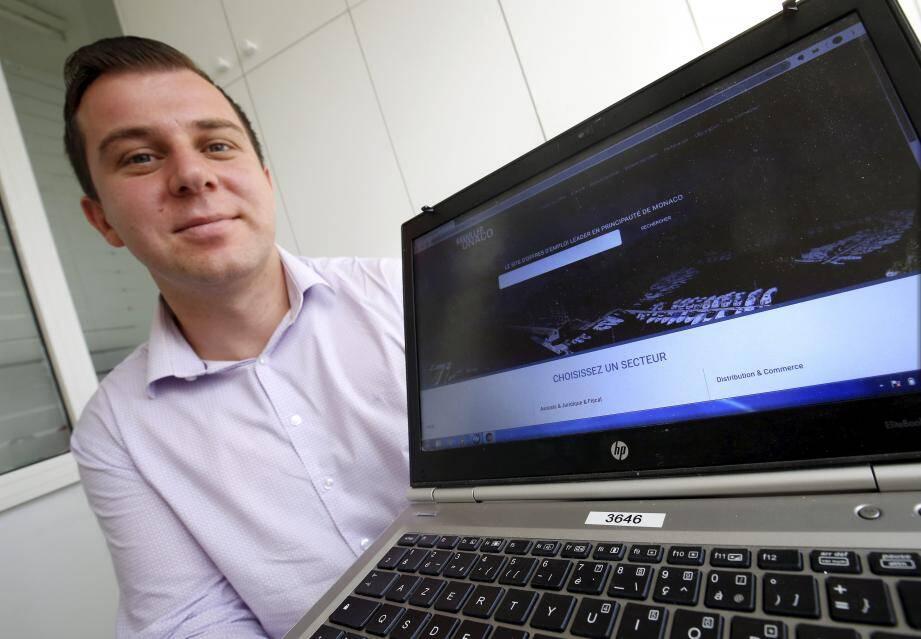 Bogdan Dinu, un des concepteurs du projet « Travailler à Monaco ».