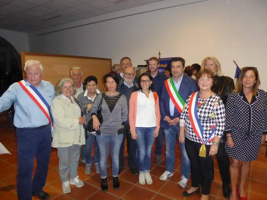 La délégation Italienne a été reçu avec faste, samedi soir.