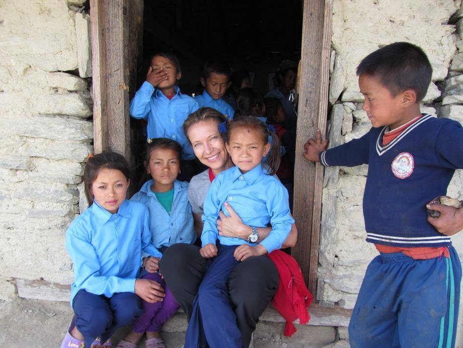 La présidente de Namaste se rend au Népal pour suivre les projets humanitaires mis en place grâce aux dons reçus à Monaco.(DR)