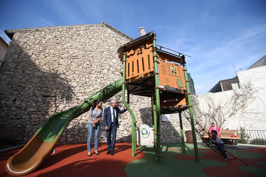 Ouvert depuis mardi, le parc est déjà adopté par les enfants.