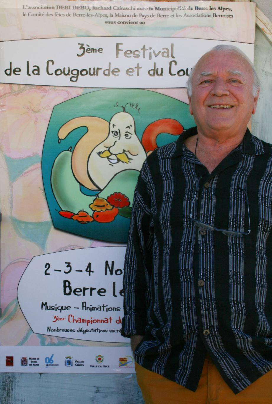 Richard Cairaschi présente la 3e édition du Festival de la cougourde et du cougourdon.