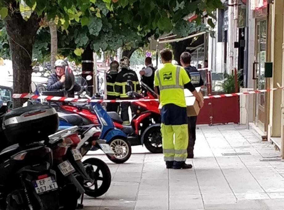 Une grenade aurait été retrouvée boulevard Cessole.