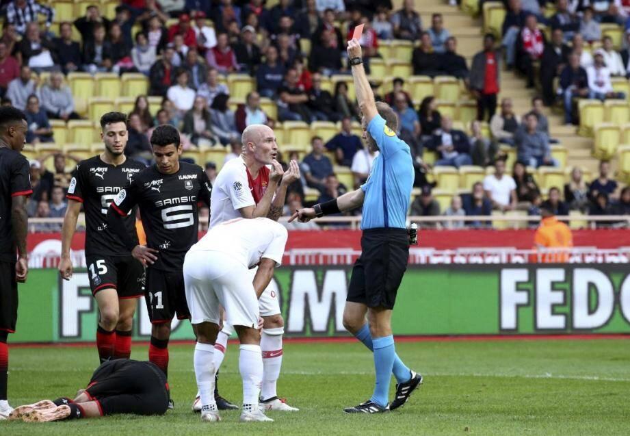 Andrea Raggi a vu rouge face à Rennes.