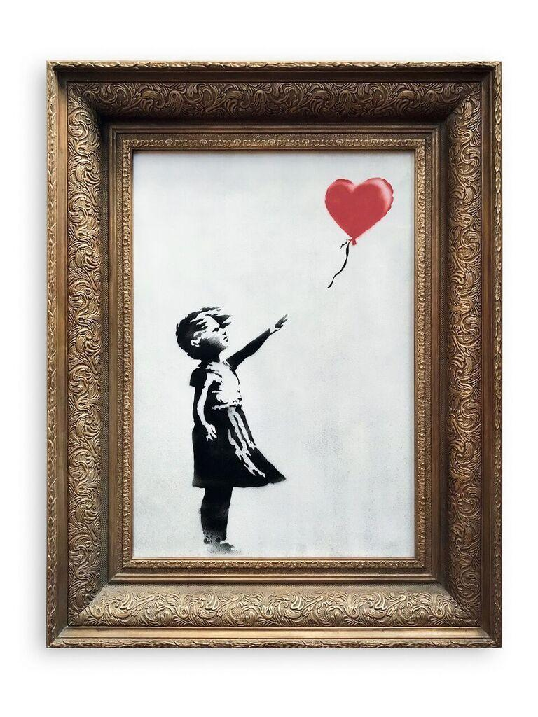 """L'oeuvre de Banksy """"Girl with Balloon""""."""