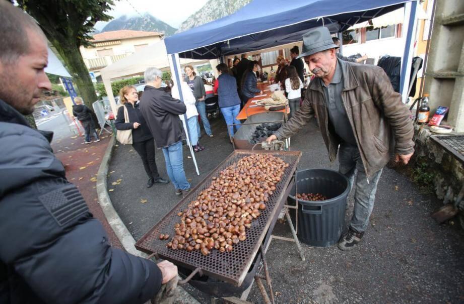 Plus de cent kilos de châtaignes étaient prévus pour la fête, ce dimanche.