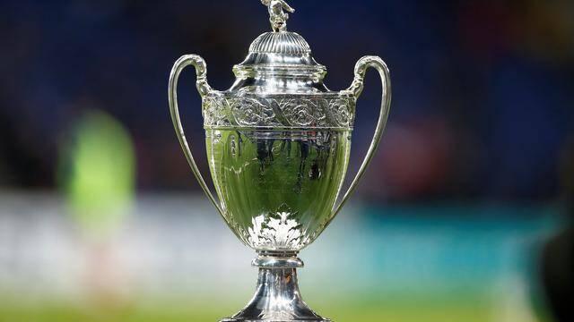 Le trophée de la coupe de France.