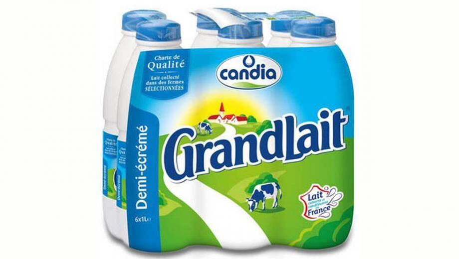 Plusieurs lots de lait demi-écrémé et entier de la marque Grandlait Candia (1L et 1,5L ) présentent un défaut au niveau du goût et de l'odeur à cause de la présence d'un germe.