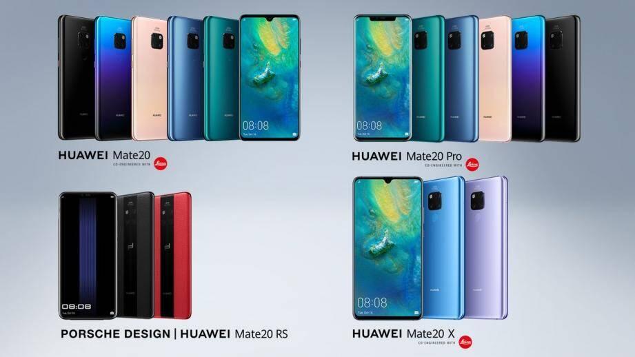 Les visuels du nouveau Huawei Mate 20.