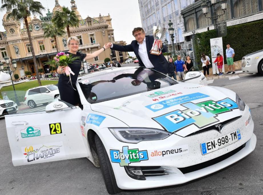 Didier Malga et Anne-Valérie Bonnel, vainqueurs de l'édition 2017.