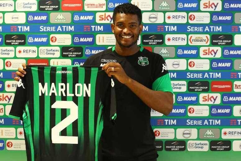 Marlon Santos a marqué son premier but avec Sassuolo.