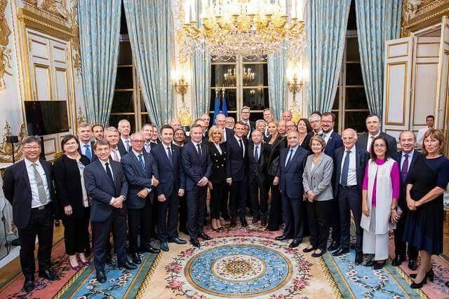 En marge de la  7e rencontre du « FIA High Level Panel for Road Safety », comité consultatif de décideurs et personnalités, la princesse Charlène était à l'Elysée aux côtés d'Emmanuel et Brigitte Macron