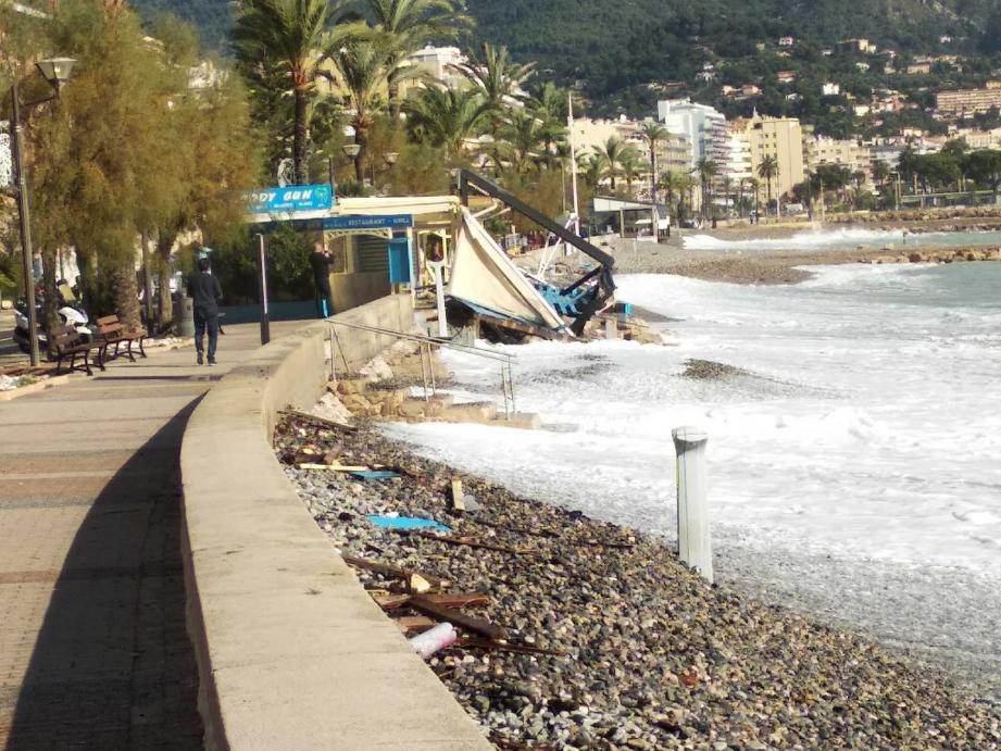 Le littoral de Roquebrune-Cap-Martin ce mardi matin