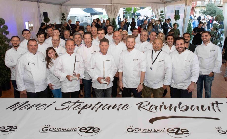Les chefs de Gourmand'Eze.