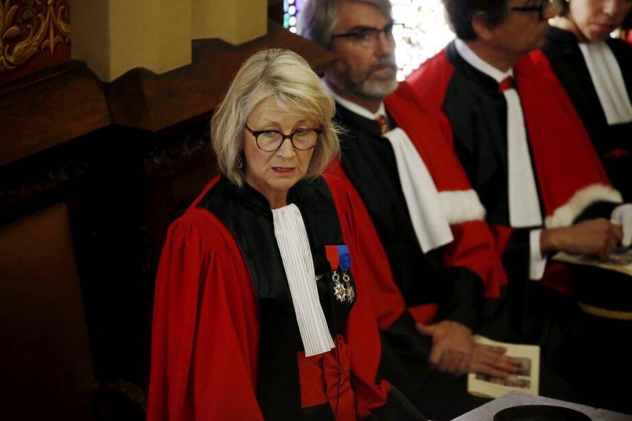 Sylvie Petit-Leclair, ce lundi au cours de son discours d'installation.