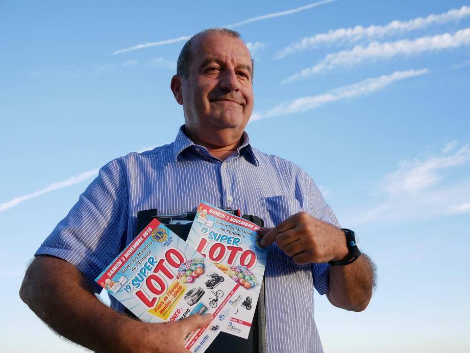 Jean-Louis Ansaldo, actuellement vice-président du Lions Club Menton, ancien président.