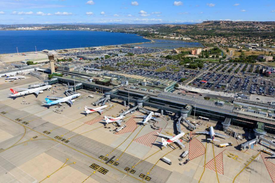 L'aéroport de Marseille.
