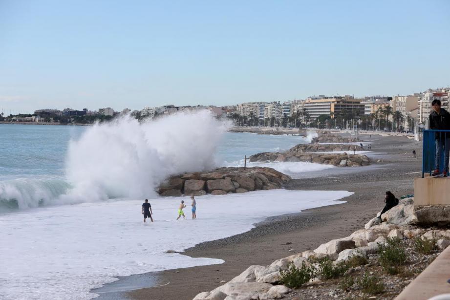 La plage de Magnan ce mardi matin.