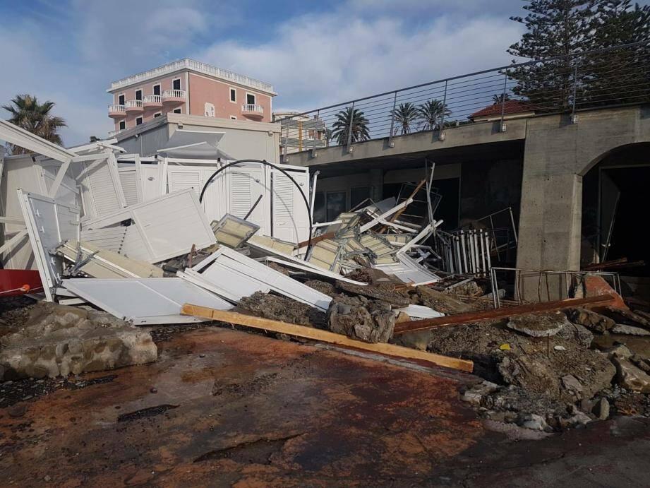 Des dégâts à Bordighera ce mardi.