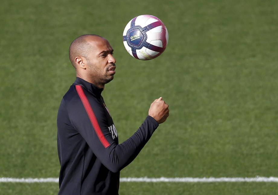 Thierry Henry à l'entraînement de l'AS Monaco.