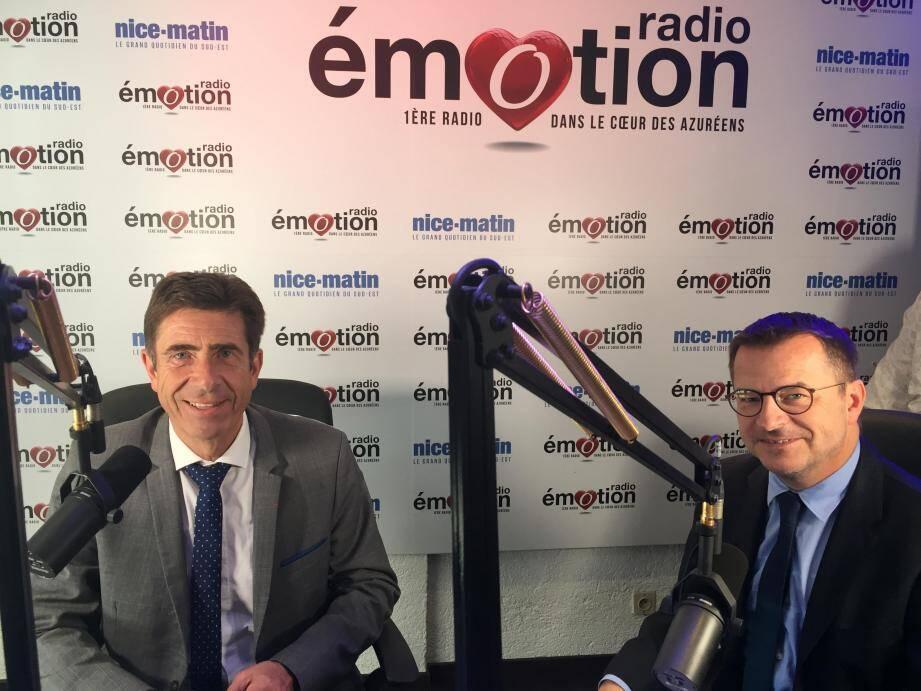 Charles-Ange Ginésy, interviewé par Denis Carreaux sur Radio Emotion.
