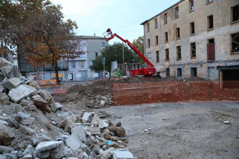 Le chantier a débuté le 20 août.
