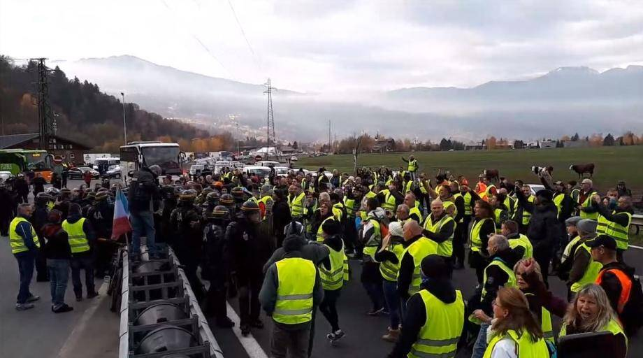 Manifestation en Haute-Savoie