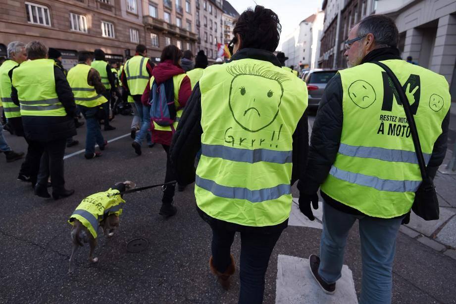 Marche de gilets jaunes à Strasbourg