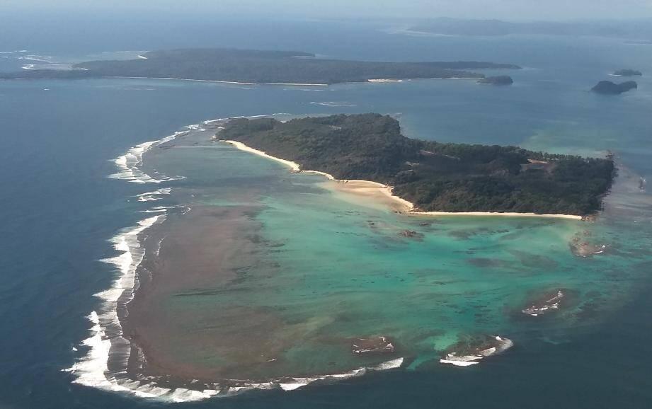 L'île de la mer d'Andaman.