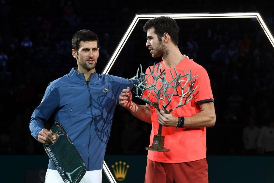 Fin de série pour Novak Djokovic, terrassé hier par un impressionnant Karen Khachanov.