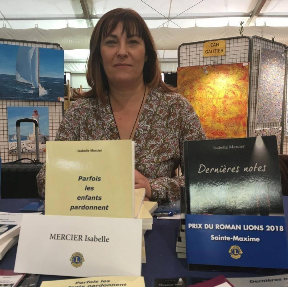 Isabelle Mercier lauréate du prix du roman du Lions club Sainte-Maxime 2018.