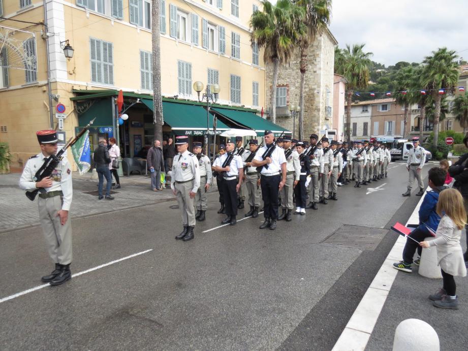 Le défilé hier matin.