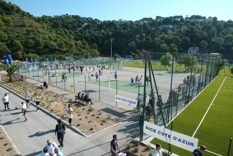 Le stade de la Lauvette Inférieure, rebaptisé Stade Hairabedian, à Nice.