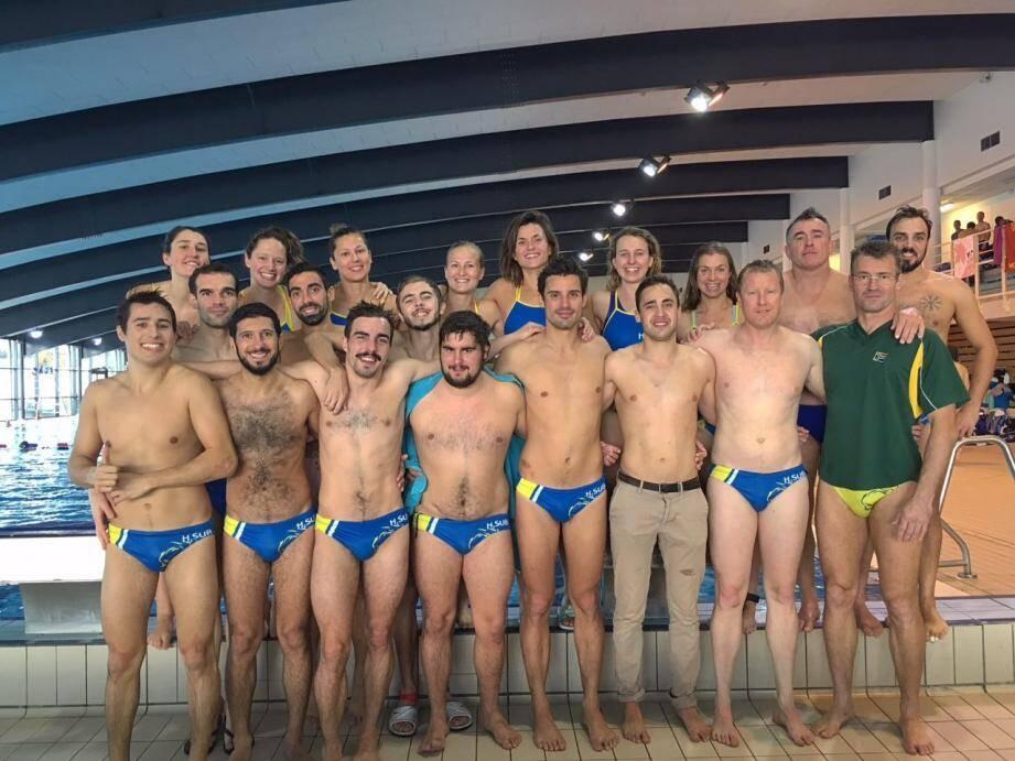 La délégation hyéroise au championnat de France à Montluçon.