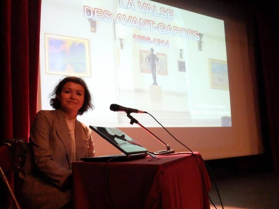 Géraldine Bretault a su captiver le public lors d'une conférence de très haut niveau.