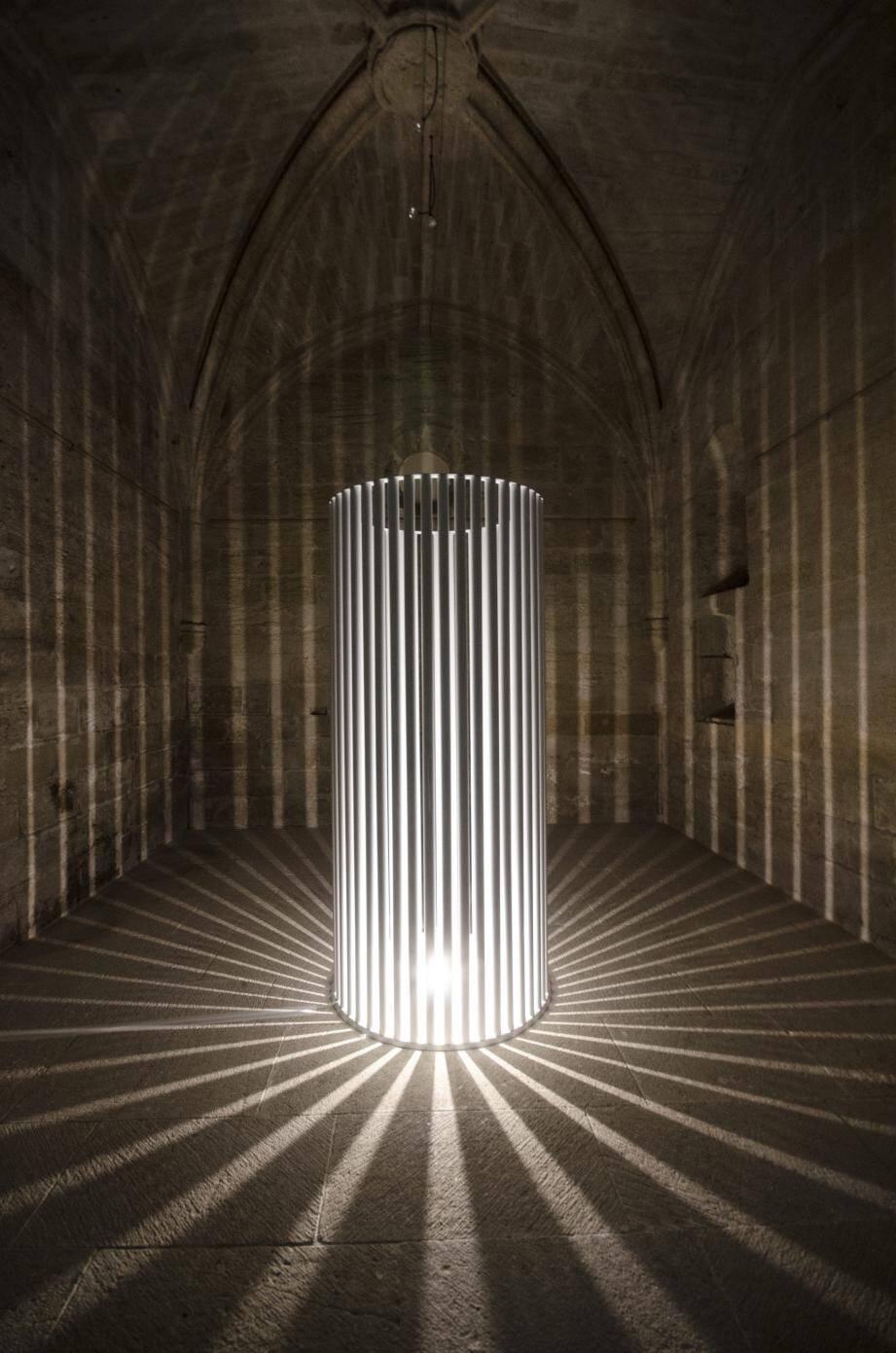 Installation d'Ailo, à la Chapelle de la Providence, ce soir.(DR)