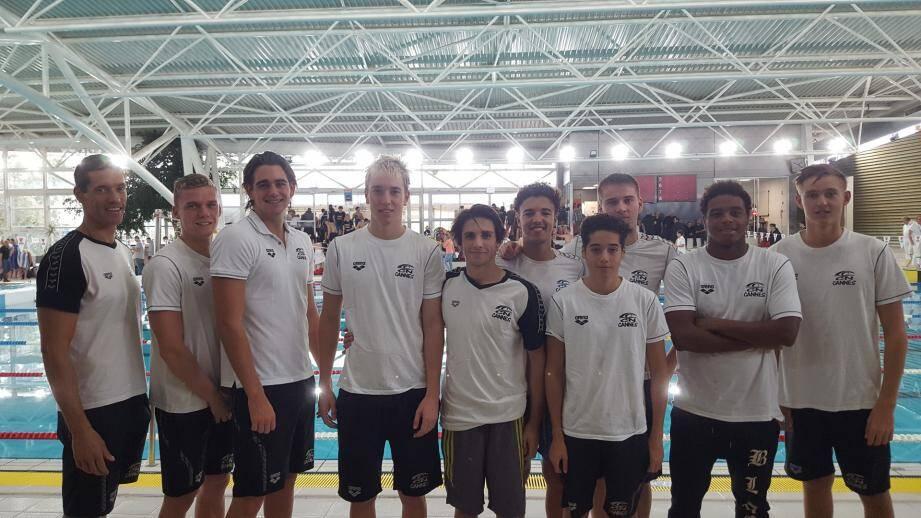 L'équipe 1 garçons du CNC s'est classée 8e aux derniers interclubs à Istres.DR