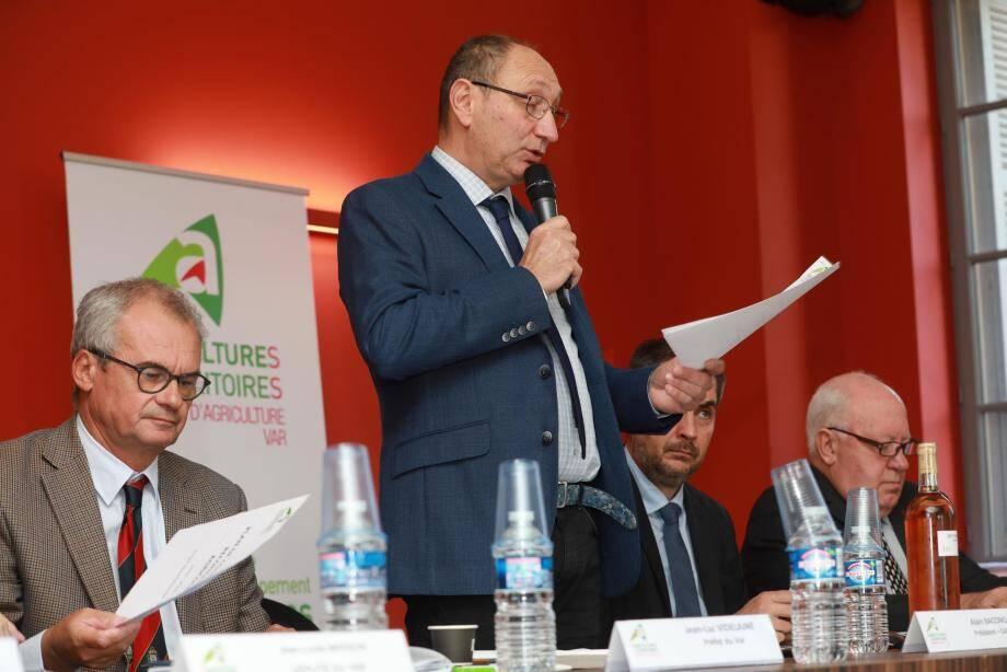 Moment fort de cette dernière session de la chambre d'agriculture présidée par Alain Baccino : la signature, avec le préfet Jean-Luc Videlaine, d'un plan de conquête et de reconquête agricole pour la période 2019-2023.