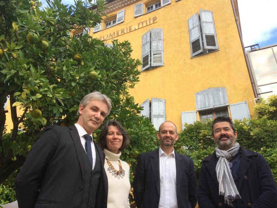 Les quatre fondateurs du Fonds Baudelaire ont présenté leur association hier au MIP.