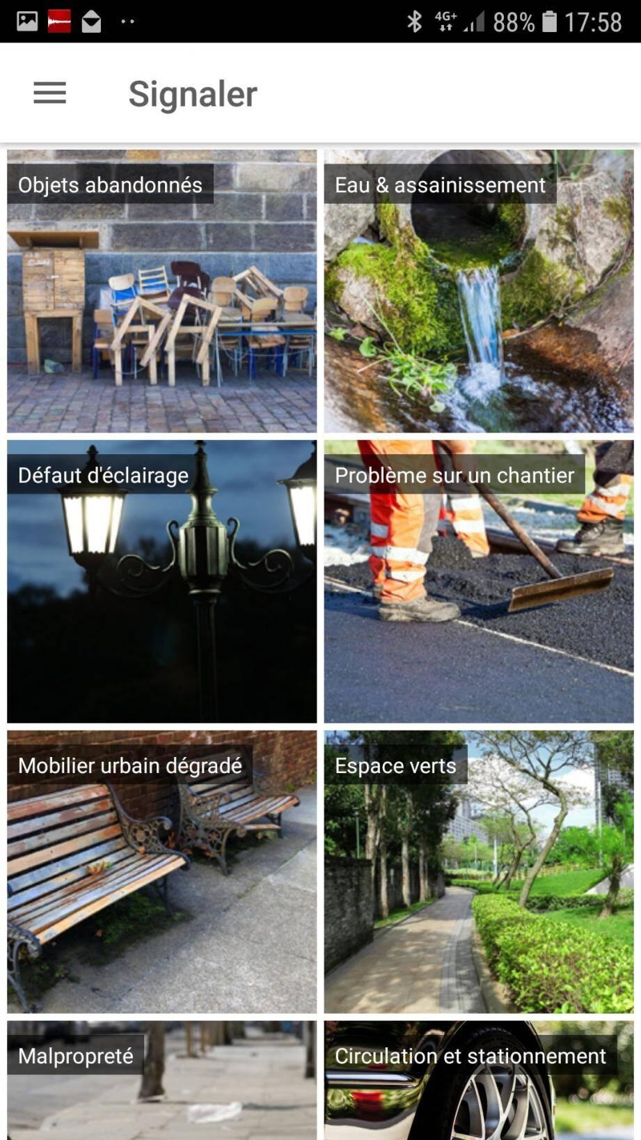 Ojets abandonnés, défaut d'éclairage, mobilier urbain dégradé... les Borméens peuvent signaler tous les problèmes via l'application de la ville.