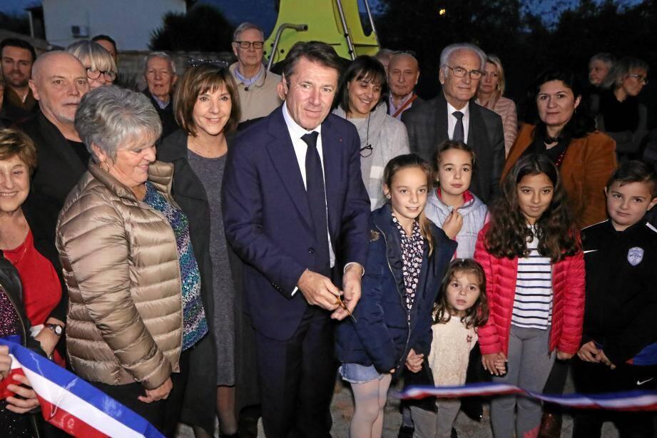 Christian Estrosi a inauguré, mercredi dernier, le jardin qui a été ouvert au public durant l'été.