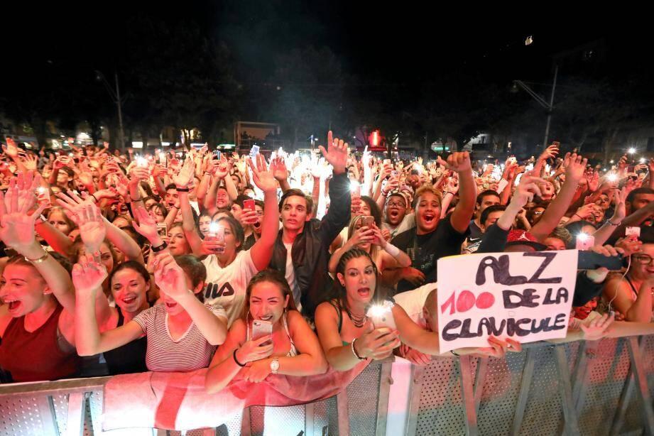 Le public, l'été dernier, lors du concert du rappeur Alonzo à l'affiche des Nuits du Sud.(Archive N.M.)