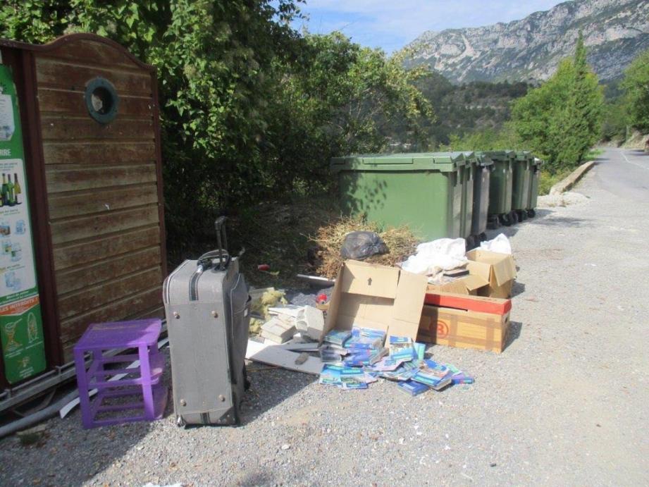 Voilà un exemple de dépôt qui fait réagir la municipalité. Alors que le village apporte, sur place, des solutions respectueuses de l'environnement. (DR)